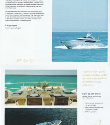 Presence of Charter&Dreams in Catalunya Premium magazine